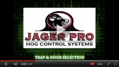 Hog Trapping - Trap & Door Selection