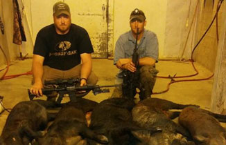 Eric and Kevin take 30 hogs with Pulsar Thermal Scope